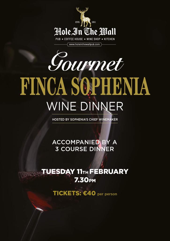 HIW 3 course dinner and wine pairing